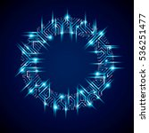 vector sparkling circuit board... | Shutterstock .eps vector #536251477