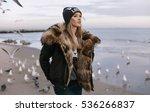 winter spring portrait of... | Shutterstock . vector #536266837