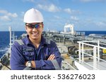 portrait asian engineer on the... | Shutterstock . vector #536276023
