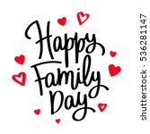 happy family day. the trend... | Shutterstock .eps vector #536281147