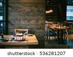 restaurant with wooden interior   Shutterstock . vector #536281207