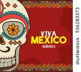 viva mexico poster celebration | Shutterstock .eps vector #536283373