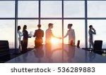 businessteam facing new day .... | Shutterstock . vector #536289883