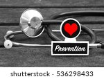 prevention word written on... | Shutterstock . vector #536298433