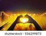 close up a heart shaped hand ... | Shutterstock . vector #536299873