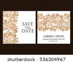 vintage delicate invitation... | Shutterstock .eps vector #536304967