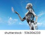 Sci Fi Robotic Girl. Gynoid...