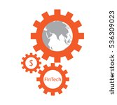 fintech icon   symbol  sign | Shutterstock .eps vector #536309023
