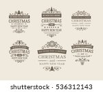 set of 6 retro vintage... | Shutterstock .eps vector #536312143