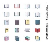 book icons set of stationery | Shutterstock .eps vector #536313067