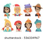 woman face emotive icons.... | Shutterstock .eps vector #536334967