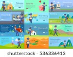 set of icons with postman... | Shutterstock .eps vector #536336413