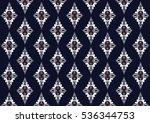 geometric ethnic pattern... | Shutterstock .eps vector #536344753