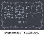 set of vector hand drawn... | Shutterstock .eps vector #536360047