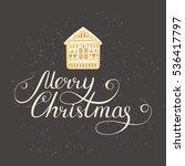 simple christmas card design... | Shutterstock . vector #536417797