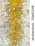 Old Concrete Wall With Yellow...
