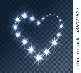glowing light effects with... | Shutterstock .eps vector #536422927