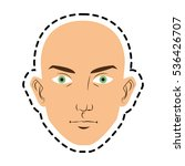isolated man face cartoon design | Shutterstock .eps vector #536426707