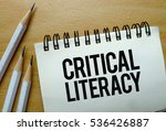critical literacy text written... | Shutterstock . vector #536426887