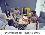 young team of freelancers...   Shutterstock . vector #536431993