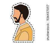 isolated man cartoon design | Shutterstock .eps vector #536437057
