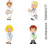 cartoon doctors and nurses | Shutterstock .eps vector #536464177