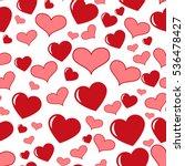 heart love seamless pattern... | Shutterstock .eps vector #536478427