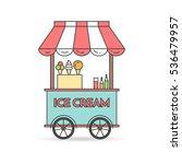 ice cream cart on wheels. sweet ... | Shutterstock .eps vector #536479957