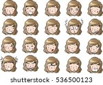 woman face set | Shutterstock .eps vector #536500123
