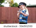 baby caucasian girl toddler...   Shutterstock . vector #536501533