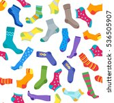 socks background pattern. vector | Shutterstock .eps vector #536505907