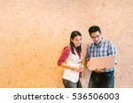 young asian couple or coworker... | Shutterstock . vector #536506003