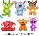 cartoon monster collection set | Shutterstock .eps vector #536506747