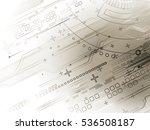 technology abstraction. raster... | Shutterstock . vector #536508187