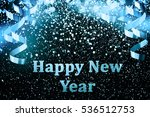 new year decoration closeup on... | Shutterstock . vector #536512753