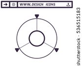 navigation icon vector flat...