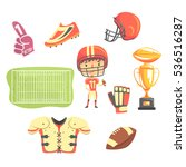 boy american football player ... | Shutterstock .eps vector #536516287