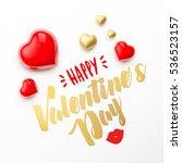 realistic 3d colorful romantic... | Shutterstock . vector #536523157