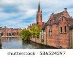 houses along beautiful canals... | Shutterstock . vector #536524297