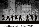 band show on night city... | Shutterstock .eps vector #536526847