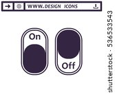 on off switch icon vector flat... | Shutterstock .eps vector #536533543