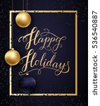 greeting card for winter happy... | Shutterstock .eps vector #536540887