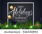 holidays greeting card for... | Shutterstock .eps vector #536540893