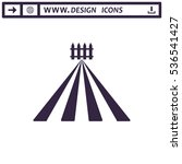 fence icon vector flat design...