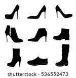 shoes silhouette on white... | Shutterstock .eps vector #536552473
