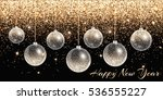 christmas decorations hanging.... | Shutterstock . vector #536555227