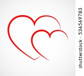 abstract heart shape outline.... | Shutterstock .eps vector #536569783