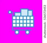 shopping cart icon flat disign