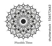 mandala decorative ornament... | Shutterstock .eps vector #536572663