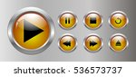 set of buttons for the player | Shutterstock .eps vector #536573737